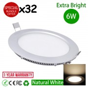 6W 4 Inch LED Downlight Natural White 4500K 32pcs Bundle Promo